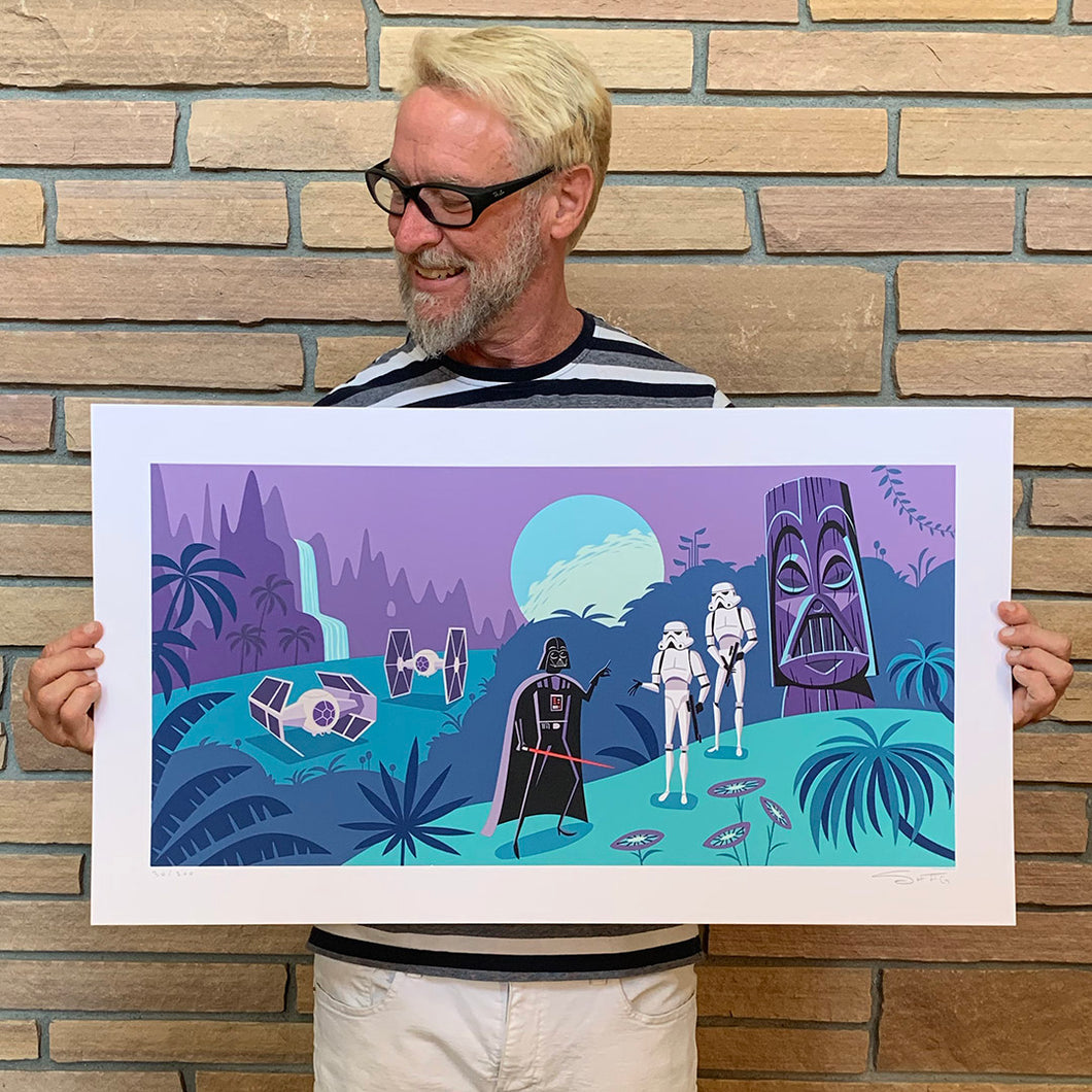 SHAG x Geeki Tikis® Limited Edition Darth Vader Print