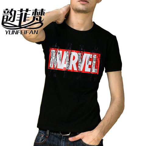 2017 New Fashion Marvel t-shirt Men Superhero