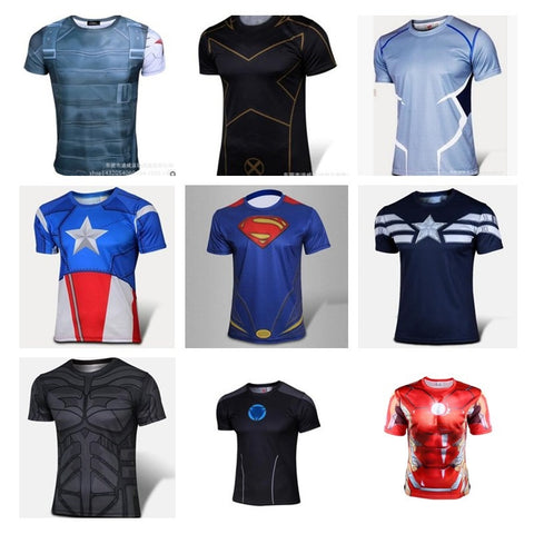 3d t-shirt men short sleeve fashion avenger heroes