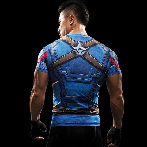 3D T Shirt Men Fitness Compression Shirt TOP Superhero 2017