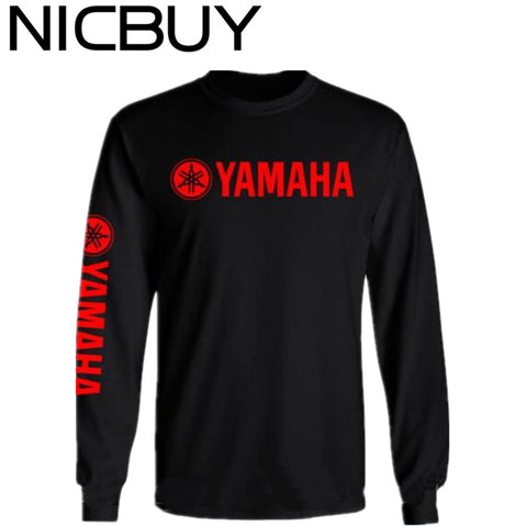 2017 New Arrival 100% Cotton Tops Tee YAMAHA Long
