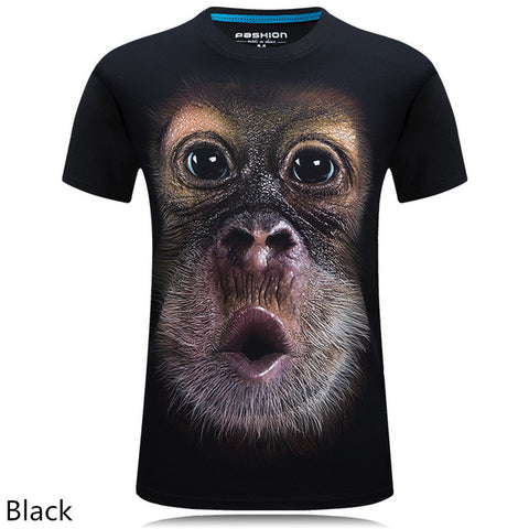animal T-shirt monkey/lion 3D Digital Homme t-shirt 2018