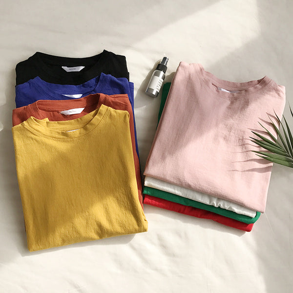 Oversized solid colour tees