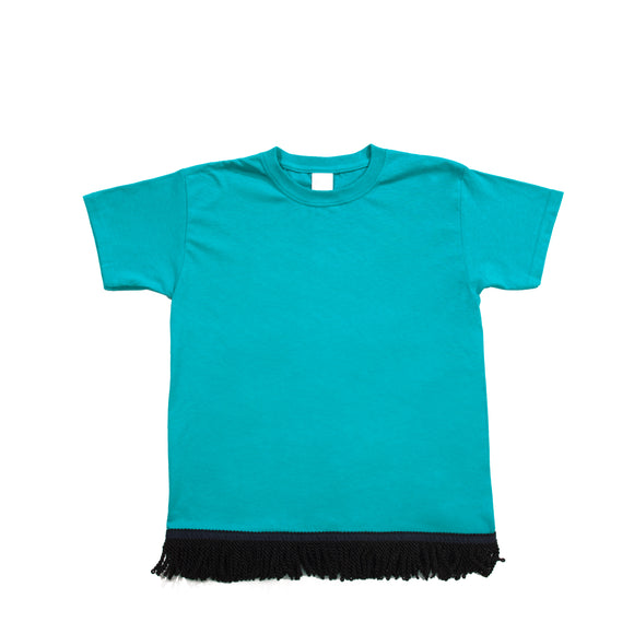 Starting at $12.99 Youth's Fringed Aqua Blue Tshirt