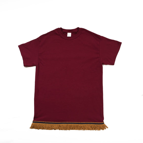 Youth's Maroon Tshirt- Gold Fringe