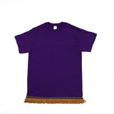 Purple Tshirt With Gold Fringe