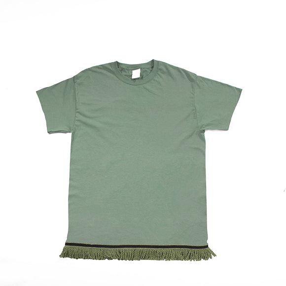 Sage on Sage Fringed Tee