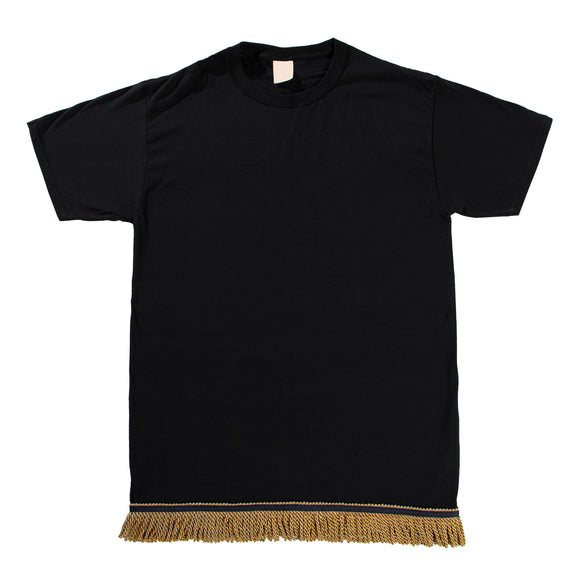 Starting at $12.99 Black Tshirt With Gold Fringe