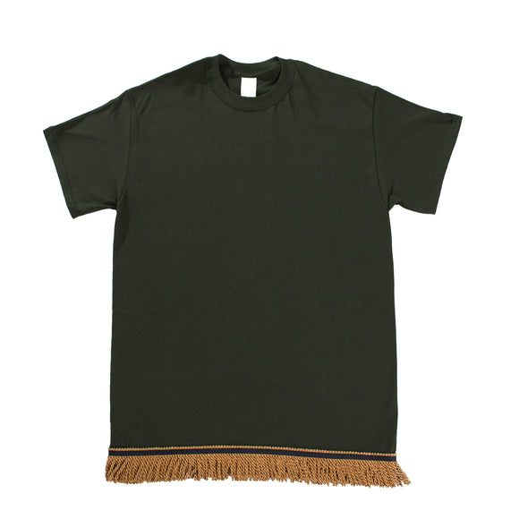 Starting at $12.99 Forest Green Tshirt With Gold Fringe