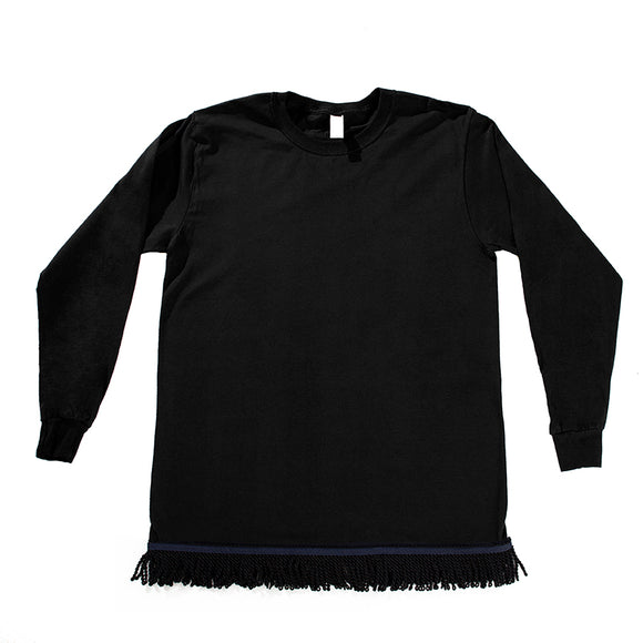 Starting at $24.99 Black Fringed Long Sleeved Shirt