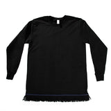 Black Fringed Long Sleeved Shirt