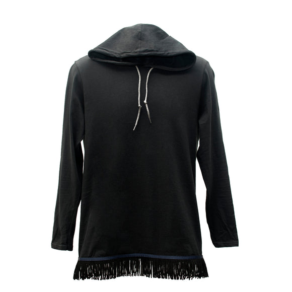 Starting at $29.99 Black Fringed Long Sleeved Light Weight Hoodie