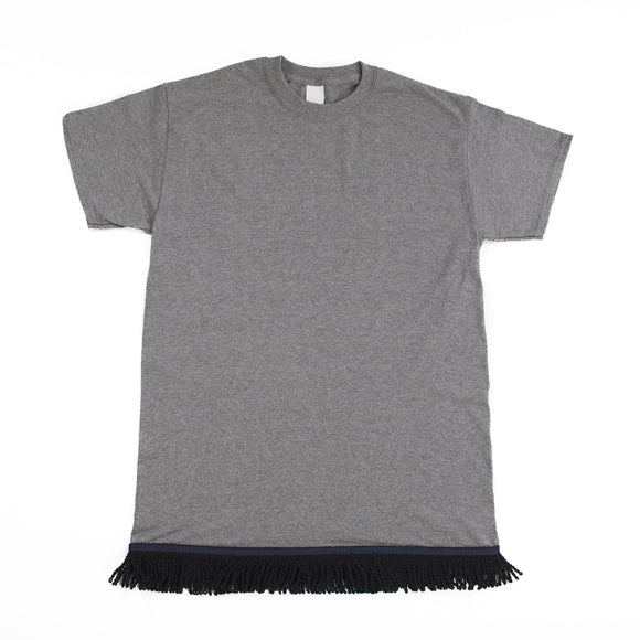 Dark Grey Fringed Tshirt