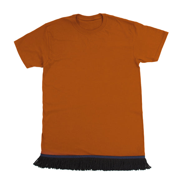 Burnt Orange  Fringed Tshirt