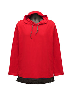 Starting at $29.99 Red Fringed Long Sleeved Light Weight Hoodie