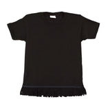 Toddler Fringed Black Tshirt