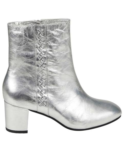 Silver Leather Boot
