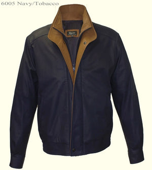 Men's Remy Leather Navy-Tobacco