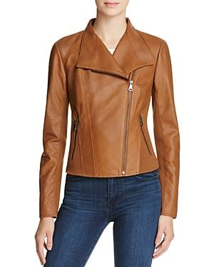 Brown Leather Moto Jacket