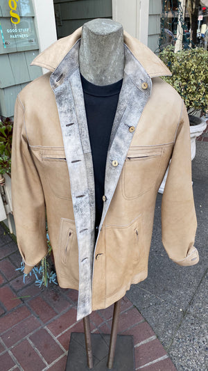Distressed Italian Lambskin (reversable)