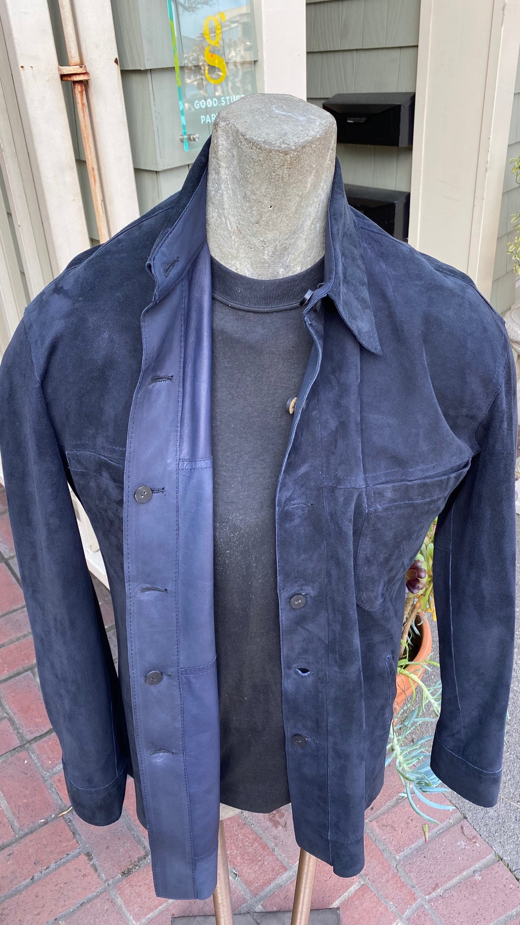 Midnight Blue Reversable Italian Lambskin