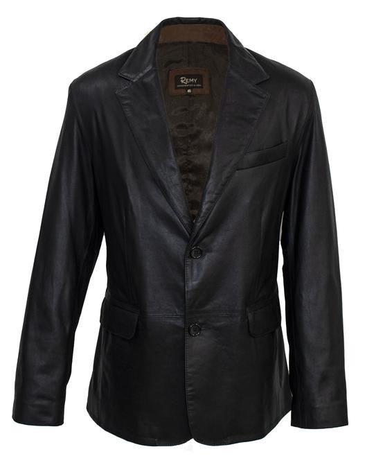 Remy 2 Button Blazer Remy Light Peat Soft Black