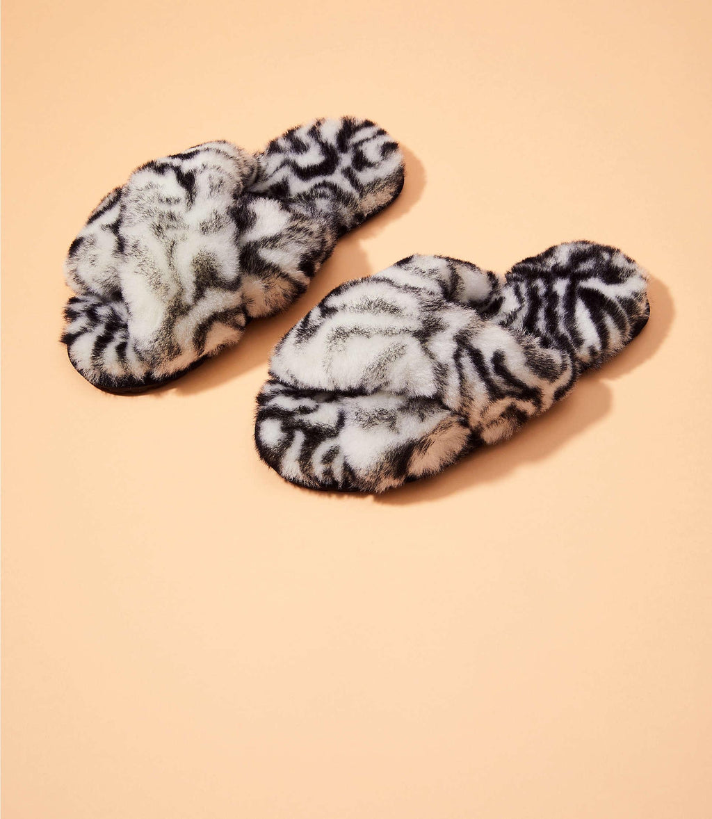 Emu Animal Print Slippers