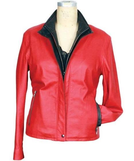 Remy Red Double Collared Jacket