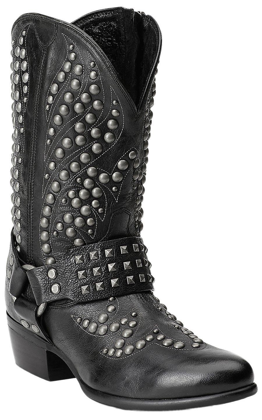 Women's Ariat Black Studded Western Boots