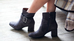 Women's Black Suede Boots