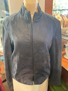 Women's Royal Blue Leather Jacket