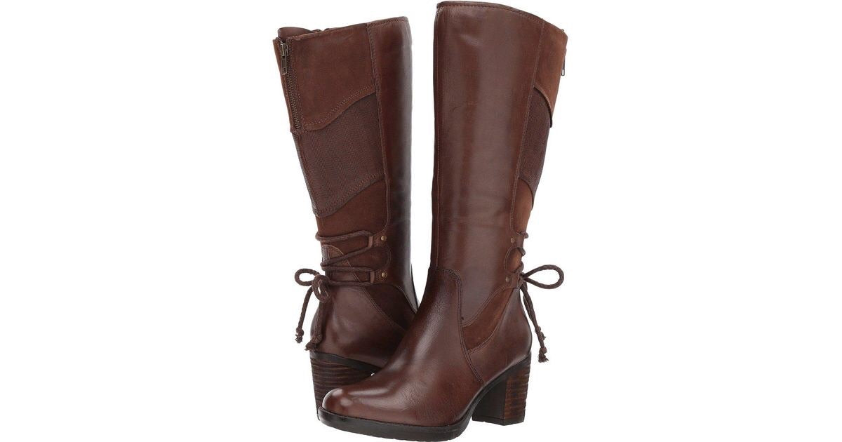 Womens Bark Brown Leather Boots