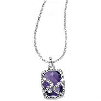Tender Hearts Necklace Purple