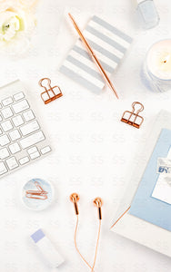 Light Blue Office Bundle (18 Images)