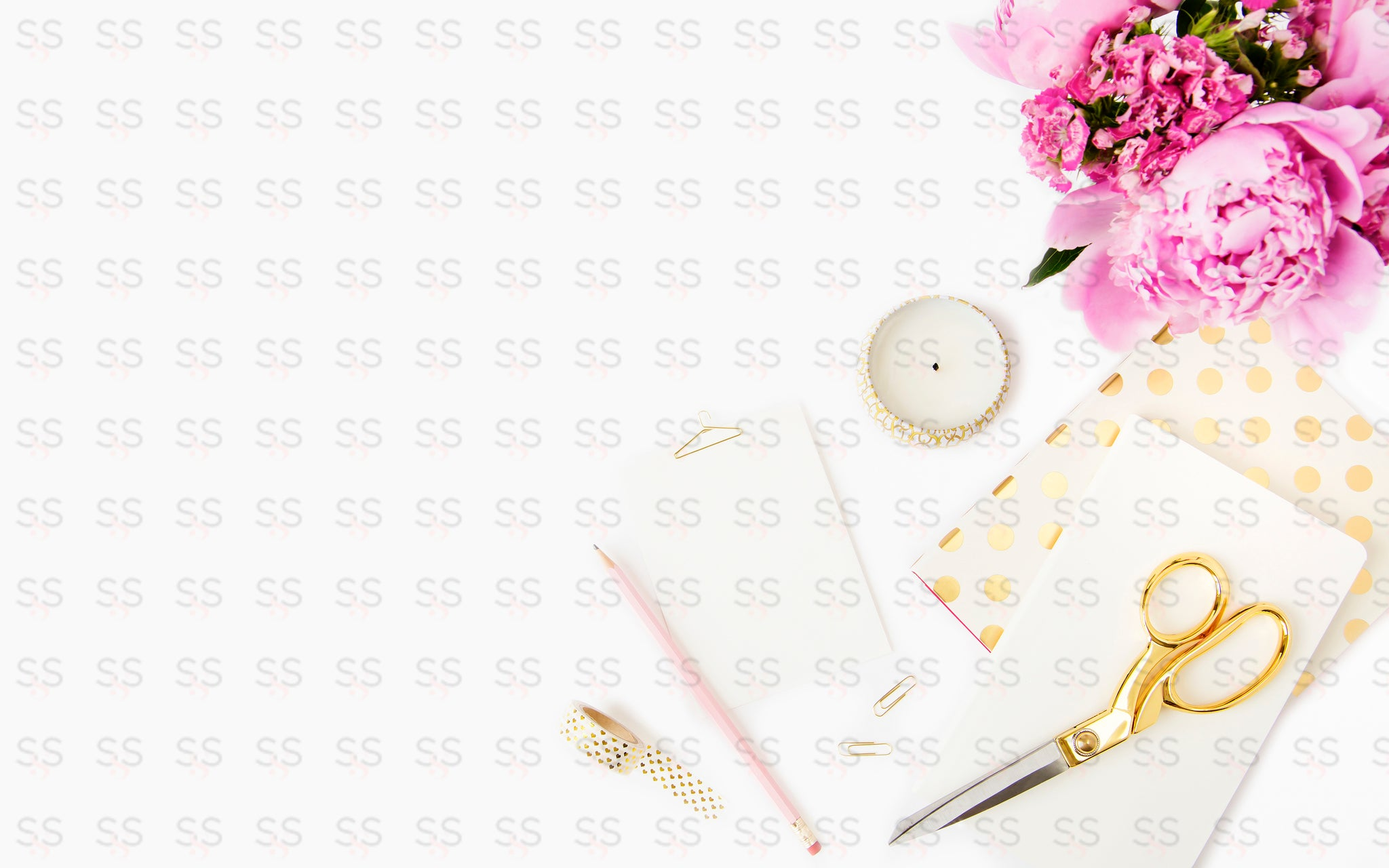 Pink Gold Desktop Bundle 10 Images