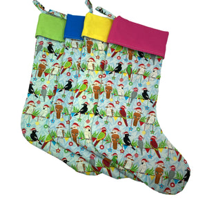 Carolling Cockatoos! Australian Christmas Stockings - Tropical and bright!