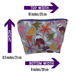 Jocelyn Proust Fabric- Kookaburra -  Toiletry Bag - Makeup bag - Australian gift