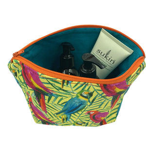 Pretty Polly Makeup Bag - Bird Print fabric