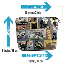 Crazy Cat Lady -  Make Up Bag - Toiletry Bag - Cat fabric