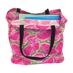 "Watermelon Tote Bag - ""One in a Melon"""