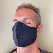 Navy Face Masks - Plain Face Masks - triple layered