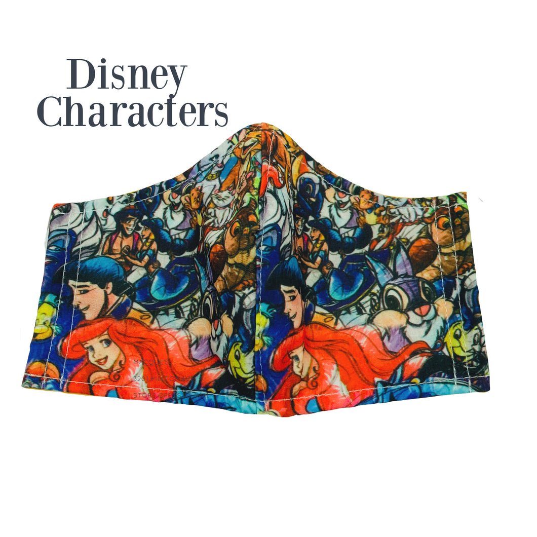Disney Character  fabric face masks - triple layered
