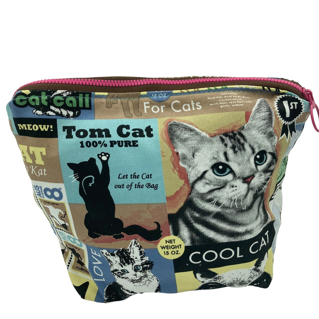 A handmade toiletry bag for all you crazy cat ladies.