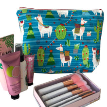 Fa La Llama-  Make Up Bag - Toiletry Bag - Alpacas