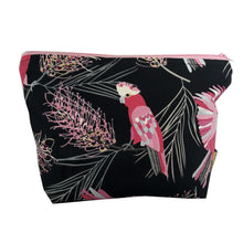 """Flaming Galah"" - Toiletry Bag. Cockatoo fabric"