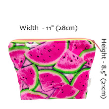 """One in a Melon"" Toiletry Bag - Watermelon fabric"