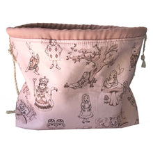 Large project bag - Knitting Bag - Alice in Wonderland fabric