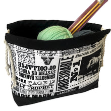 Harry Potter fabric - Sock Project Bag -  Crochet bag - Knitting Bag
