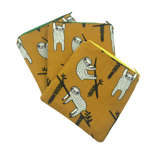 Sleepy Sloth Coin Purse - Hang In There - cosmetic purse