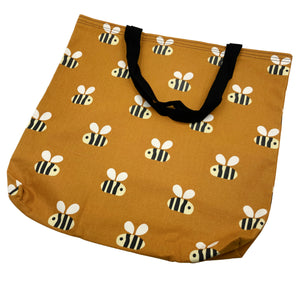 """Buzz Off""  fabric tote bag"